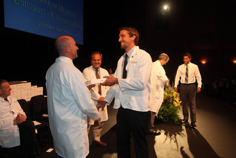The White Coat Ceremony marks the beginning of the sudents' professional careers.