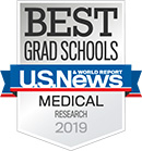 U.S. News & World Report Best Medical School for Research 2019