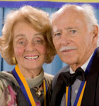 Shanbroms at UC Irvine Medal ceremony in 2006.